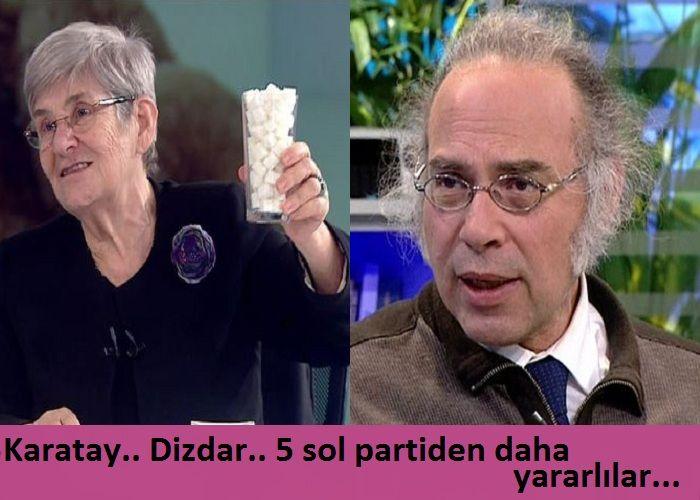 Canan Karatay, Yavuz Dizdar… Beş sol partinin toplamından daha fazla yararlılar..