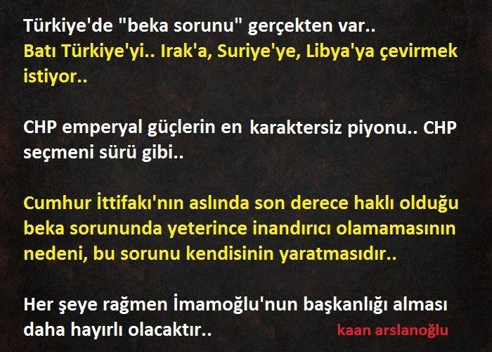 """Türkiye'de """"Beka Sorunu"""" Vardır."""