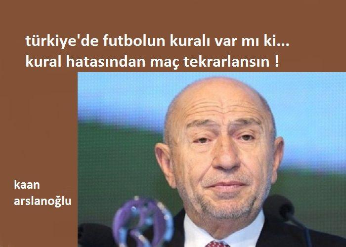 Türkiye'de Futbolun Kuralı Var mı ki, Kural Hatasından Maç Tekrarlansın !