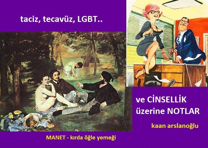 TACİZ, TECAVÜZ, LGBT VE CİNSELLİK ÜZERİNE NOTLAR..