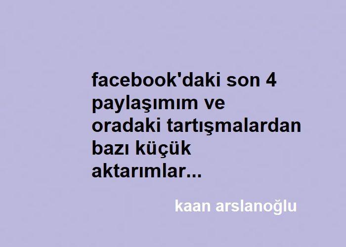 Son 4 Facebook Paylaşımım