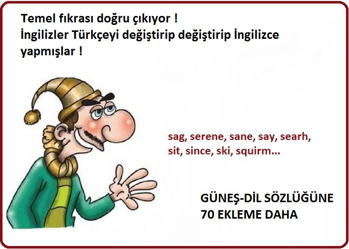 Meğer İngilizler Türkçe'yi değiştirip değiştirip İngilizce yapmışlar!
