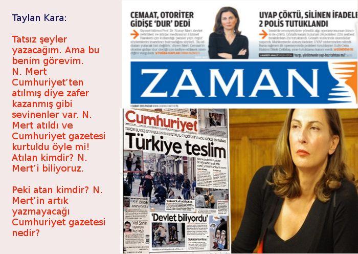 """Nuray Mert """"tu kaka"""" da Cumhuriyet gazetesi çok mu süperdir?"""