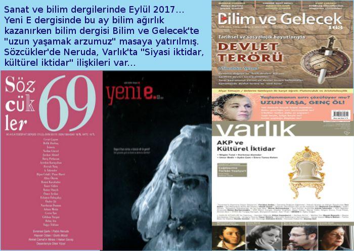 Dergilerin Eylül 2017 Sayıları...