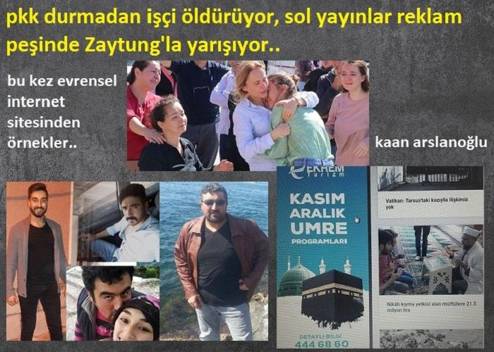 PKK Durmadan İşçi Öldürüyor, Sol Yayınlar Reklam Peşinde Zaytung'la Yarışıyor