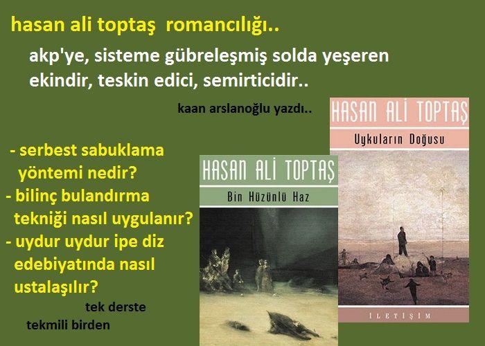 Hasan Ali Toptaş Romancılığı..  Bilinç Bulandırma Tekniği..  Serbest Sabuklama Yöntemi..