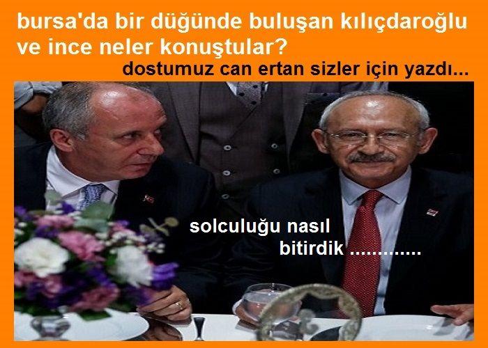Bursa'da Bir Düğünde Buluşan Kılıçdaroğlu ve İnce Neler Konuştular?