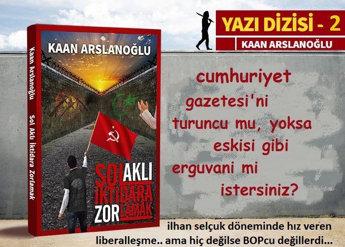 Cumhuriyet Gazetesi'ni Turuncu mu, Eskisi Gibi Erguvani mi İstersiniz?